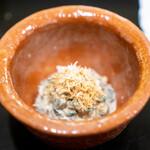 安久 - 京菊菜とえのきの胡麻和え アーモンド