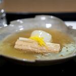 安久 - 穴子と蕪の炊き合わせ