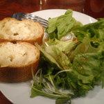 12259635 - ランチセットのパンとサラダ