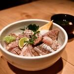 サカナキュイジーヌ・リョウ - 炙り魚3種丼@2,380円