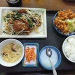 台湾料理 夏 - ニラレバ炒め   定食
