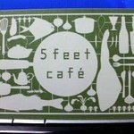 5feet cafe - ショップカード(表面)