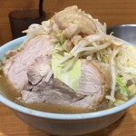 ラーメン二郎 - 【再訪】小ラーメン(ニンニク,アブラ)