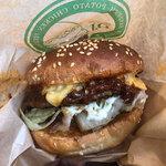 ハンドメイドキッチンオージェイ - 料理写真:「黒毛和牛OJバーガー」単品なら490円。