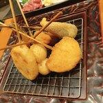 串カツ屋エベス - 串揚げ盛り合わせ12本①