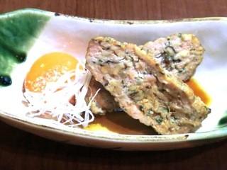 夙川 中屋 - 鶏つくね卵黄添え 380円