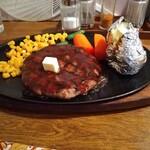 122625879 - 牛肉100%炭火焼風ハンバーグステーキ