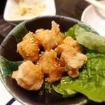 サムギョプサルともつ鍋 おくお - 上ミノの唐揚げ