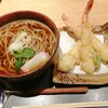 焔蔵 - 料理写真:大海老の天ぷらそば 1400円