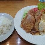 レストラン三國 - ここはご飯の炊き方も好い。