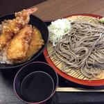高田屋 - 料理写真:名物「どぶ漬け」天丼セット おすすめ 高田屋の定番  ごまそばと天丼(竹)のセット