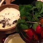 銀座ガーデンファーム - 黒トリュフのチーズフォンデュ