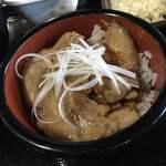 麺舗 かのまたや - セットの生姜焼丼です