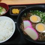 奥伊勢パーキングエリア(上り) スナックコーナー - 味付け煮卵そばセット 780円