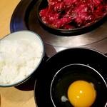 牛屋 江戸八 - お昼のすきやきセット 1280円