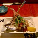 六兵衛 - あじの味噌たたき600円