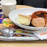ファーストキッチン - 石窯スープパンごろごろビーフシチューのドリンクセット。プラスチックのナイフが付いてきます