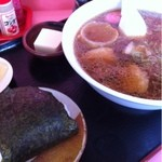 味の福龍 - メンマラーメン+おにぎり 850円