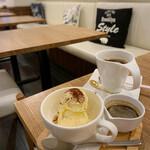 蕎麦cafe 粉々奈 - アフォガード