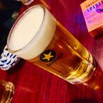 静岡酒場ガッツ - サッポロ黒ラベル(生)