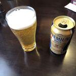 貧頭 - 缶ビールはプレミアムモルツの350ml