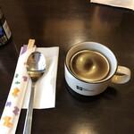 貧頭 - 日替わりチキンコンボセットのスープ