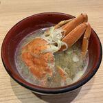 能登前寿司 もりもり寿し - 香箱がに汁 ¥470- (税抜)
