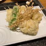 海鮮の國 波奈 - たらの白子天ぷら