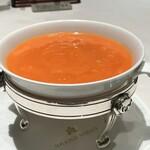 広東料理 台場 楼蘭 - 蟹の卵とたらば蟹肉入りふかひれスープ