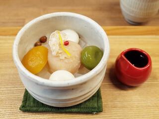あんみつの深緑堂 - 柚子と生姜の冬味あんみつ(800円)