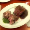 巴里食堂 - 料理写真:牛サガリステーキと仔羊ステーキ