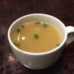 焼鶏あきら - 鶏スープ