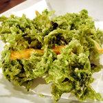沖縄料理 二 - アーサー天ぷら