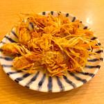 立呑み晩杯屋 - おつまみエビ130円