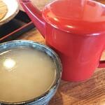 蕎麦工房 まつ田 - 食後の「そば湯」