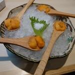 魚と溶岩焼 温 - 雲丹
