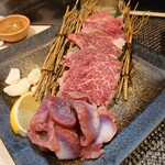 魚と溶岩焼 温 - お肉・砂ずり(焼き)