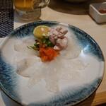 魚と溶岩焼 温 - カワハギのお刺身