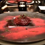 箱根フォンテーヌ・ブロー仙石亭 - 料理写真:じっくりローストしたビーツのタルティーヌ