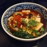 122724200 - 蕎麦屋の北海道産タラ白子豆腐
