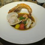 藤沢 日本酒×肉バル 来酒 - 料理写真:ポアソン 世界三大スープ、マルセイユ風ブイヤベース