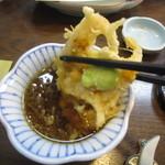 志美津や - 「白海老天ぷら」2つ目はおろし入りの天つゆで