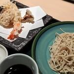 122742352 - 大海老天ぷら蕎麦(冷)