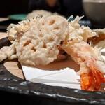 122742445 - 大海老天ぷら蕎麦(冷)