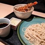 手打蕎麦 あすなろ - 大海老天丼と蕎麦(冷)セット