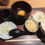 石はら - 料理写真:卵かけご飯のセット。