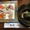 鮨政 - 料理写真:上にぎり=1300円 税別 あら煮付=500円 税別