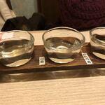 のどぐろ - 地酒三種利き酒セット