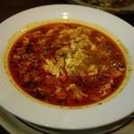 ワインと料理 Soleil  - にんにくスープ