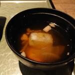 新潟 食楽園 - しっかり具材のミニお雑煮。